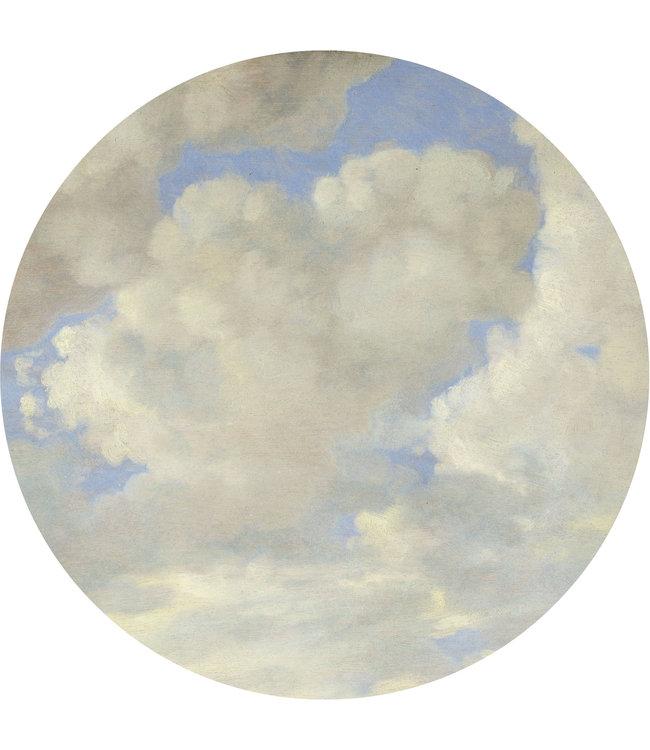 Tapetenpaneel rund Golden Age Clouds, ø 190 cm