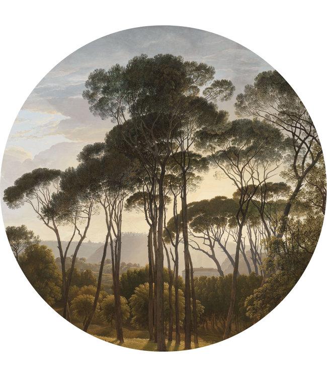 Tapetenpaneel rund XL Golden Age Landscapes, ø 237.5 cm