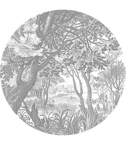 Wallpaper Circle XL Engraved Landscapes