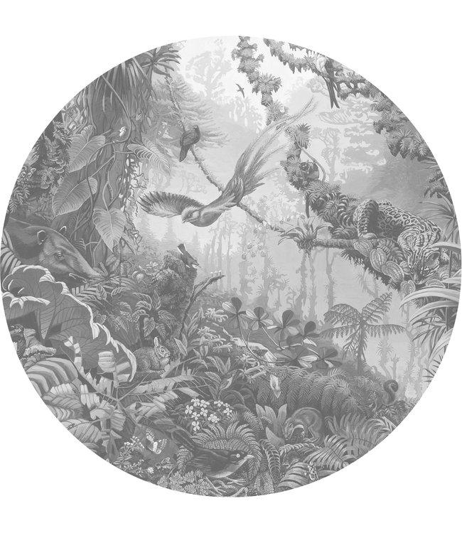 Behangcirkel XL Tropical Landscapes, ø 237.5 cm