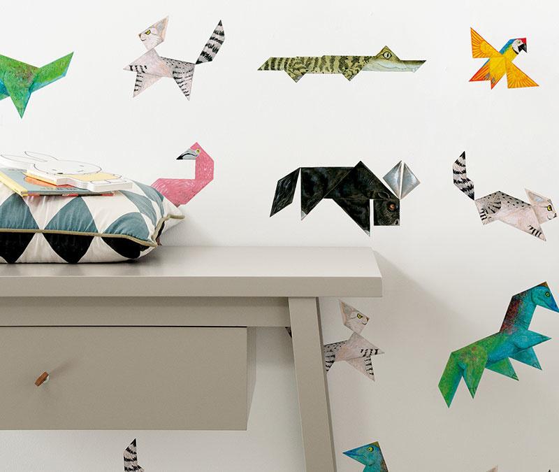 Behang voor kinderen met de vrolijke dierentekeningen