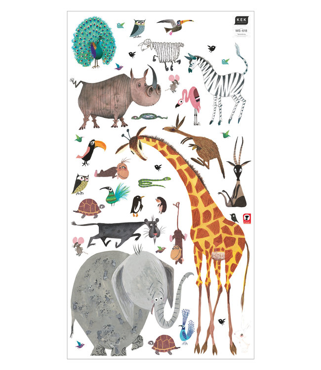 Fiep Westendorp Wandtattoos Animals XL, 97 x 180 cm