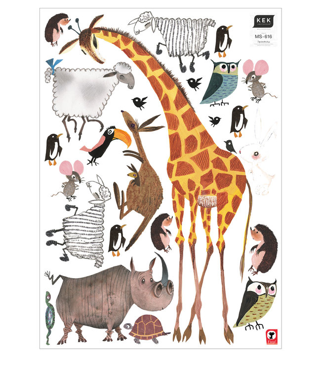 Fiep Westendorp wall stickers Animals (XL), 85 x 119 cm