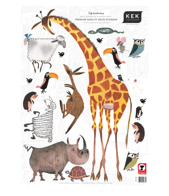 Fiep Westendorp muurstickers Animals, 42 x 59 cm