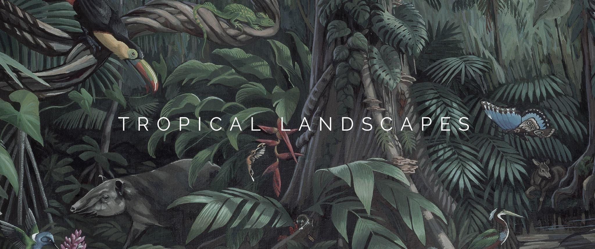 Behang Tropical Landscapes