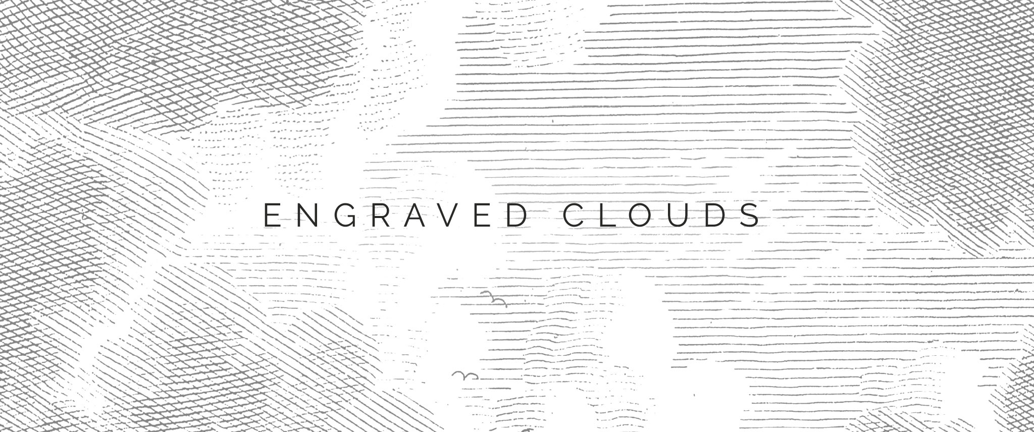 Behang Engraved Clouds