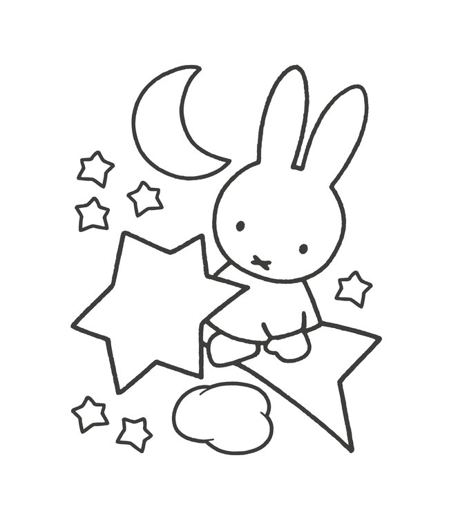 Miffy wall stickers XL, 86 x 104 cm
