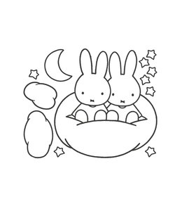 Miffy Wandtattoos XL