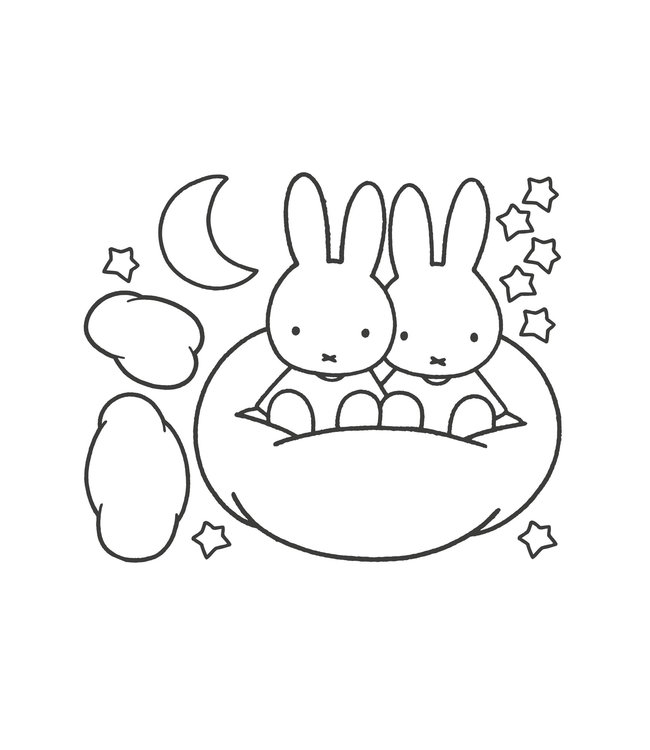 Miffy wall stickers XL, 117 x 97 cm