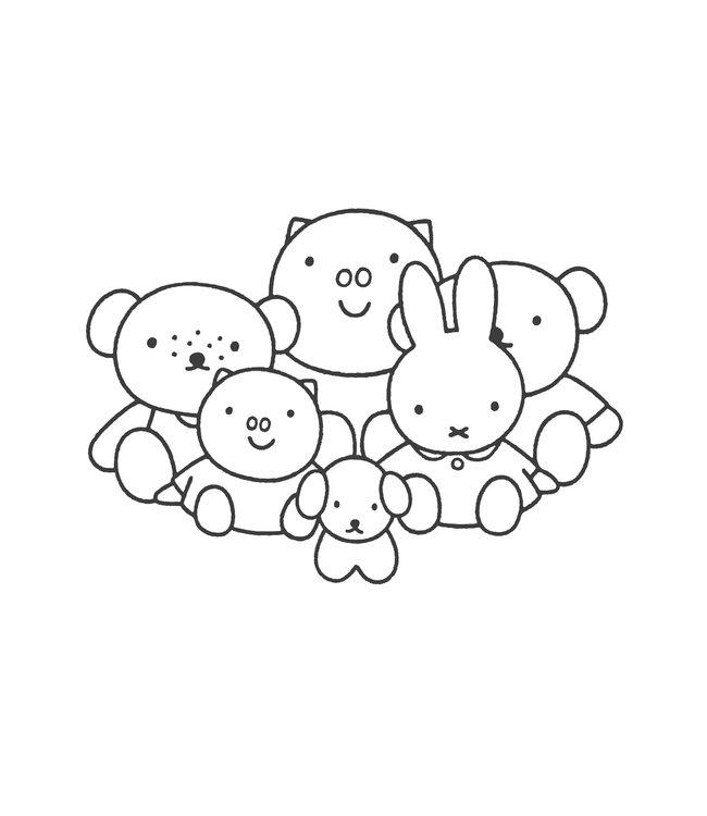 Miffy wall stickers XL, 138 x 97 cm