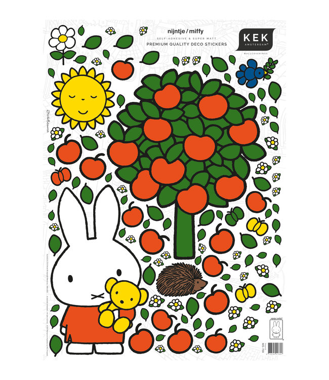 Miffy wall stickers, 42 x 59 cm