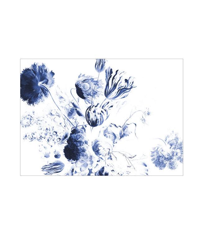 Fotobehang Royal Blue Flowers, 389.6 x 280 cm