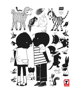 Wall stickers Jip & Janneke, Kiss XL