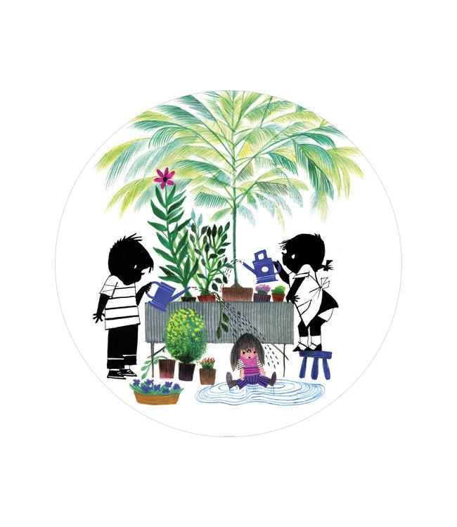 Wallpaper Circle Jip & Janneke, Gardening, ø 142.5 cm