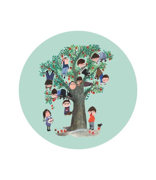 Tapetenpaneel rund Apple Tree, ø 142.5 cm