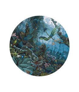 Wallpaper Circle Tropical Landscape, ø 142.5 cm