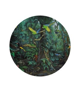 Behangcirkel Tropical Landscape, ø 142.5 cm
