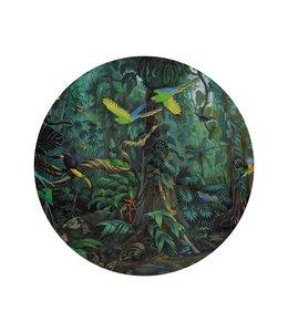 Tapetenpaneel rund Tropical Landscape, ø 142.5 cm