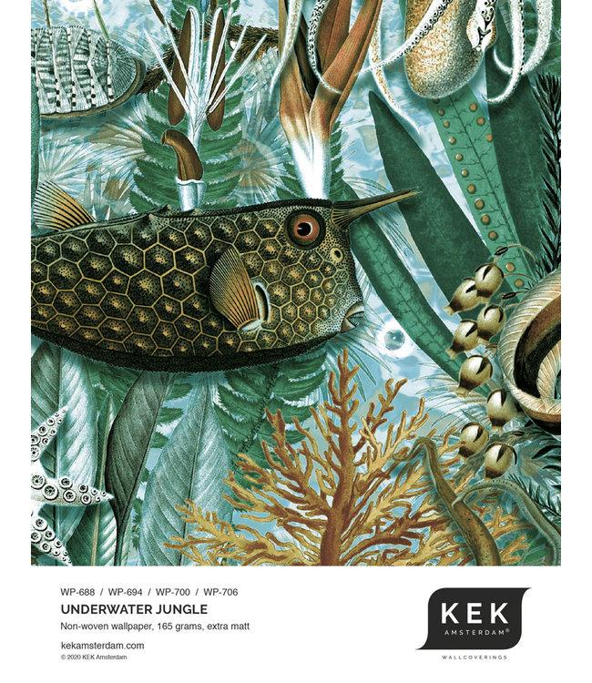 Tapetenmuster Underwater Jungle WP-688 - WP-694 - WP-700 - WP-706