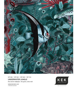 Tapetenmuster Underwater Jungle WP-686 - WP-692 - WP-698 - WP-704