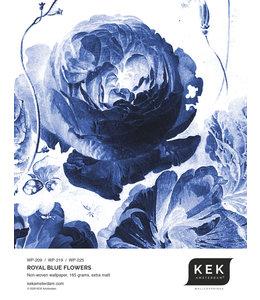 Tapetenmuster Royal Blue Flowers WP-209 - WP-219 - WP-225