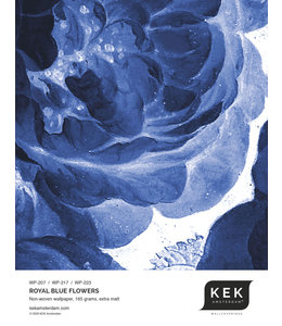 Wallpaper Sample Royal Blue Flowers WP-207 - WP-217 - WP-223