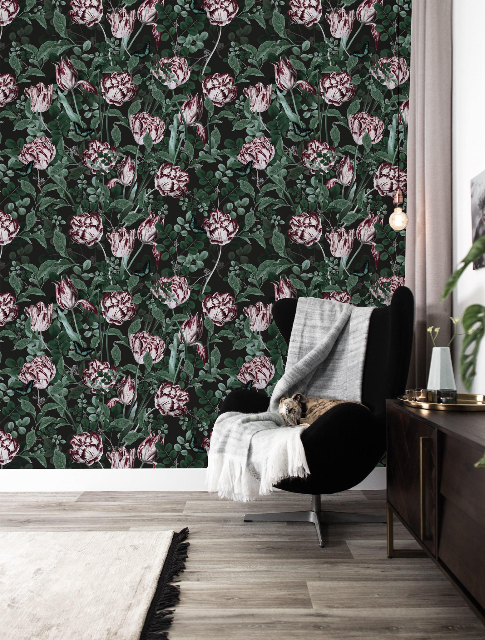 Behang Bold Botanics WP-709, zwart