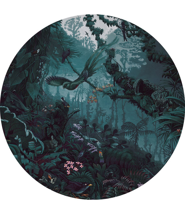 Tapetenpaneel rund Tropical Landscapes, ø 190 cm