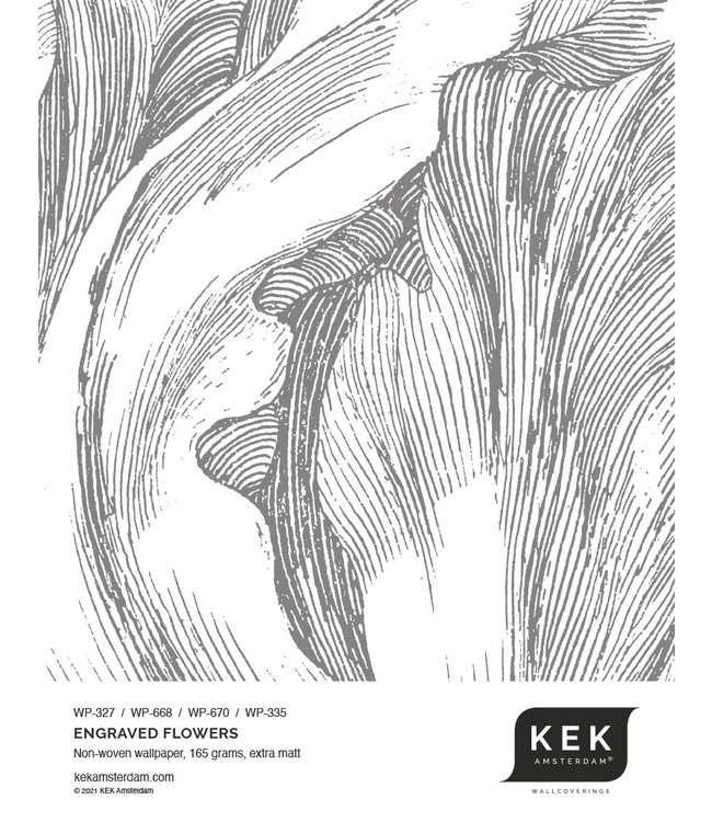 Wallpaper Sample Engraved Flowers WP-327 - WP-668 - WP-670 - WP-335