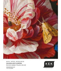 Wallpaper Sample Golden Age Flowers WP-231 - WP-232 - WP-233 - WP-234