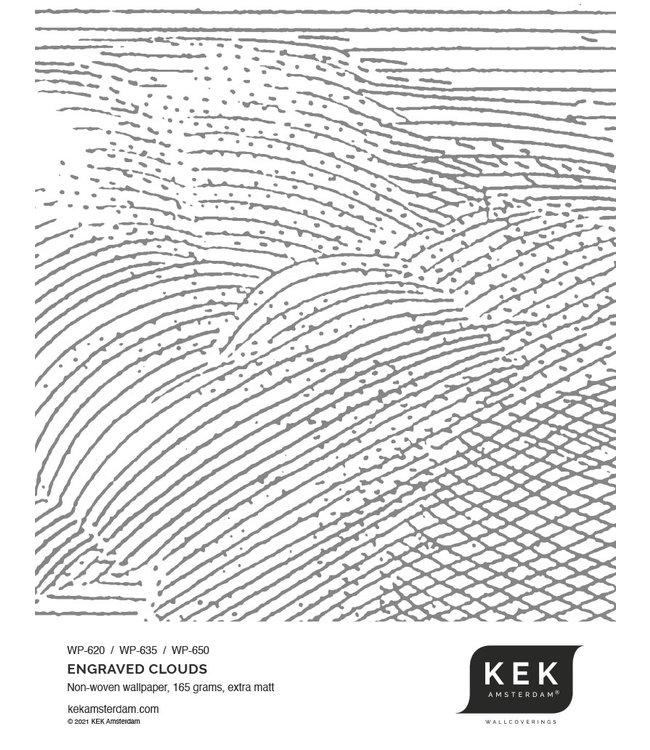 Wallpaper Sample Engraved Clouds WP-620 - WP-635 - WP-650
