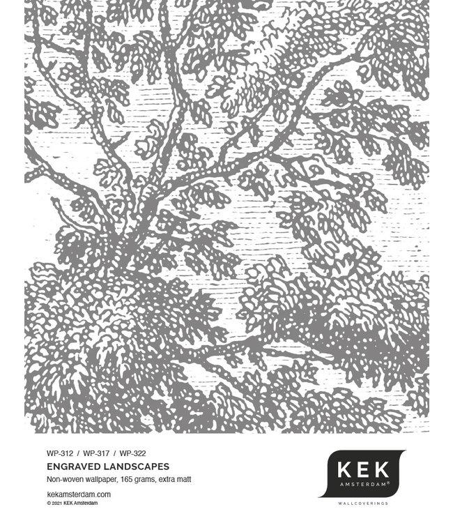 Behangstaal Engraved Landscapes WP-312 - WP-317 - WP-322