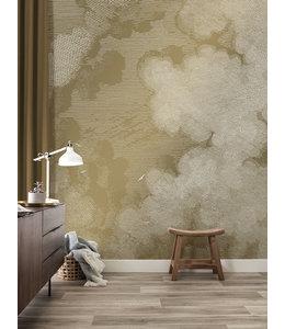 Gold metallics wall mural Engraved Clouds
