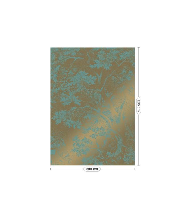Fototapete Engraved Landscapes Gold Metallic