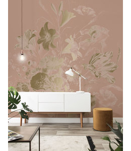 Goud behang Golden Age Flowers