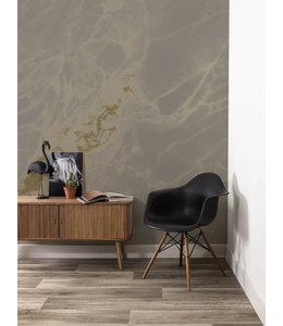 Gold metallic wall mural Marble
