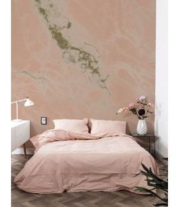 Golden metallic wall mural Marble