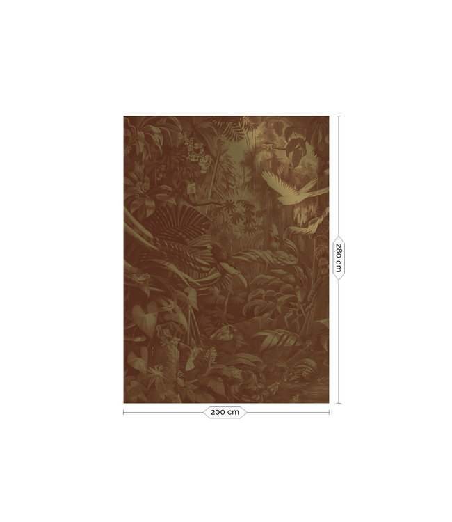 Wall Mural Tropical Landscapes Gold Metallic