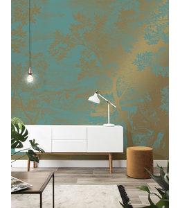 Goud behang Engraved Landscapes