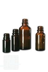 Glazen fles bruin