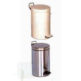 Afvalemmer chroom/emaile 12 liter