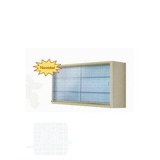 Glazen wandkast 90x70x25cm
