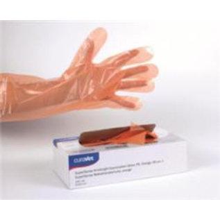 Handschoen Vet 90cm oranje  Curavet