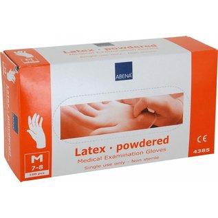 Handschoen Abena latex  gepoederd