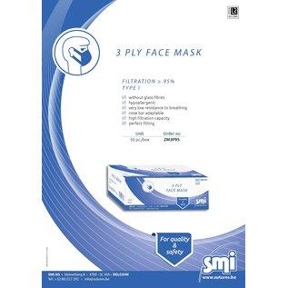 Mondmasker chir. 3-lgs SMI