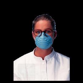 Gezichtmasker Molded blauw