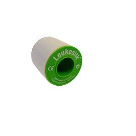 Leukosilk 9.2 m x 5.0 cm per rol