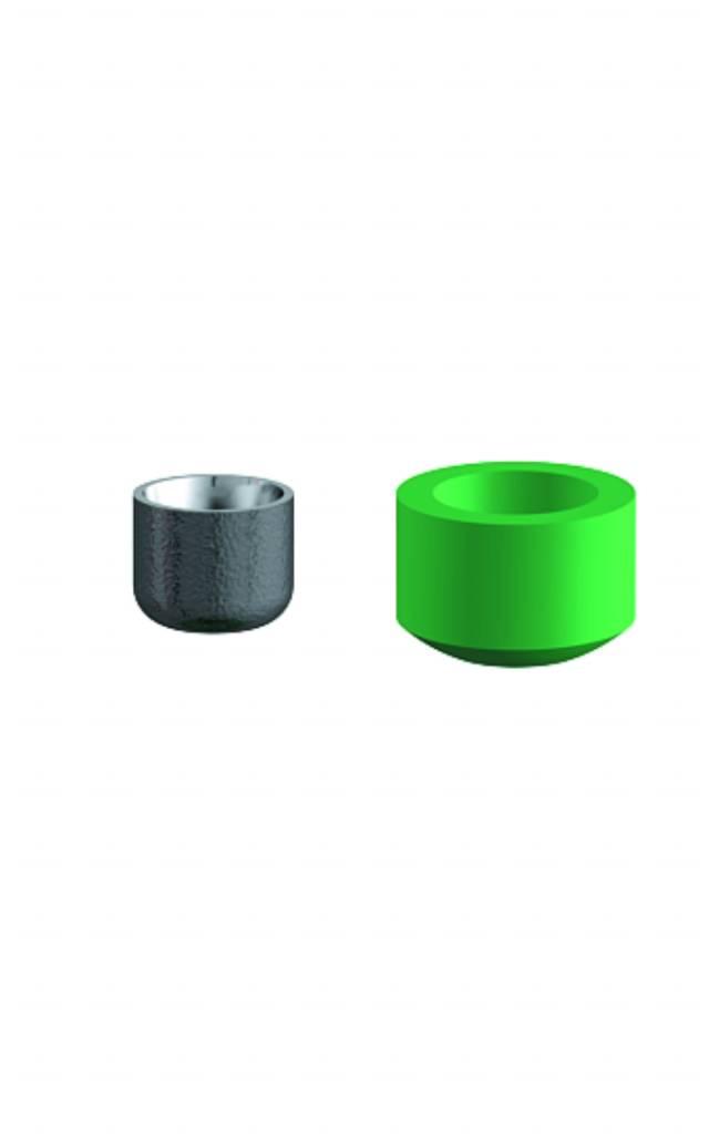 ALPHADENT NV OL 0895 TI - CEKA AXIAL REVERSE M3: Matrize zum Einkleben in Stiftwurzelkappen oder in Stegkonstruktionen. Patrize zur Verankerung in Kunststoff.