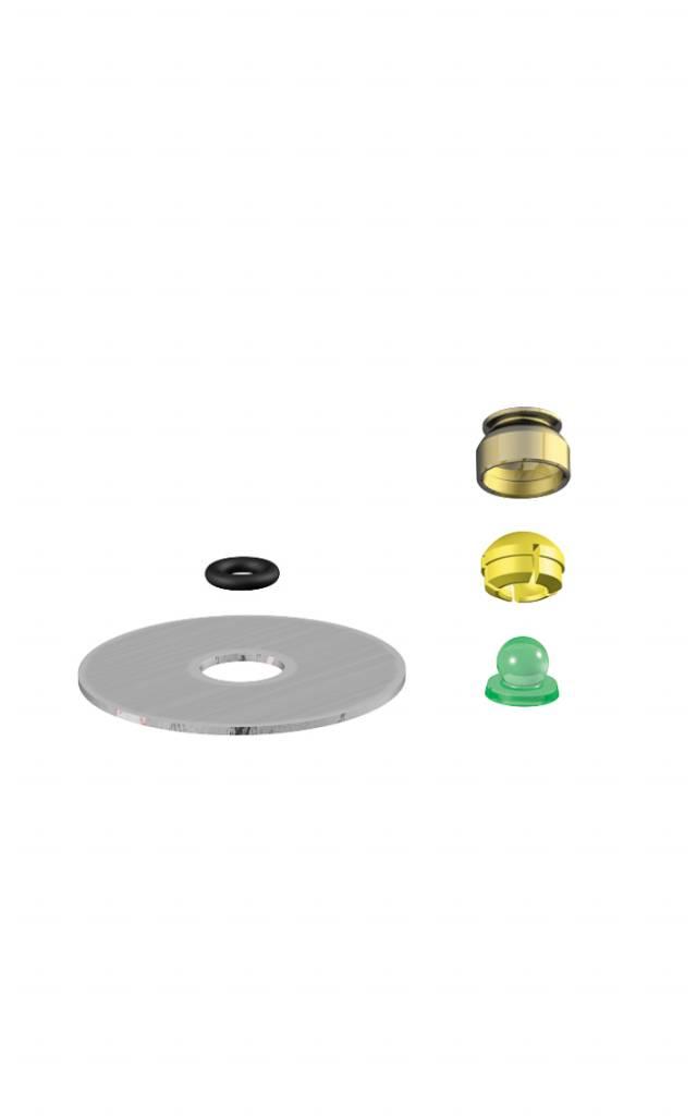 ALPHADENT NV 1251 - PRECI-CLIX ATI: Matrizengehäuse zum Einpolymerisieren, Kunststoffpatrize zum Gießen