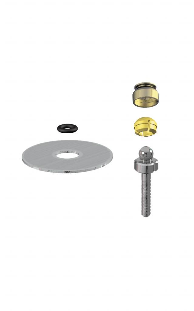 NOBIL METAL 1293 - PRECI-CLIX RCT (SF-504-24 - LF SFE) : Matrizengehäuse zum Einpolymerisieren, zementierbarer Titanstift mit integrierter Patrize